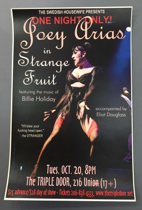 Joey Arias in Strange Fruit Poster