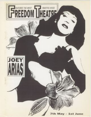 Joey Arias at the Freedom Theatre Flyer