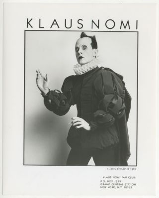 Klaus Nomi Press Photograph