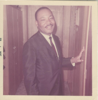 Instamatic photograph of Martin Luther King Jr
