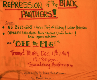 Handwritten Poster] Repression of the Black Panthers!