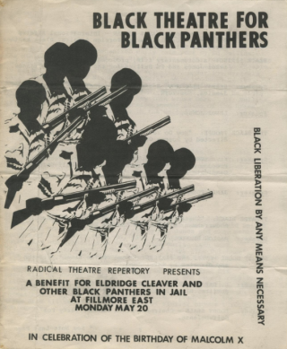 """Black Theater for Black Panthers"" program"