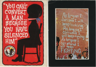 Set of two Print Mint Black Power postcards. George Pennewell, Elihu Blotnick