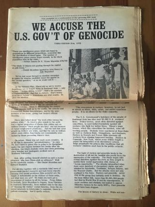 Indict the US Government for Genocide