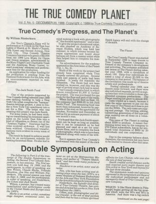True Comedy Planet, vol. 2, no. 5: December 20, 1989