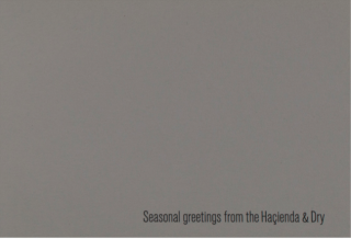 The Hacienda & Dry Holiday Card. Factory Records
