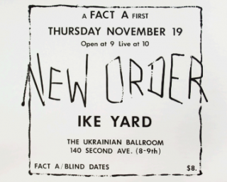 A Fact A First: New Order Ike Yard Poster (FA 1). Michael Shamberg, Stuart Argabright