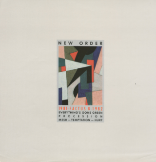 New Order 1981-1982 EP Poster (FACTUS 8). New Order, Peter Saville, design