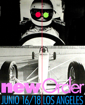 New Order Junio 16/18 Los Angeles Poster. John Baldessari