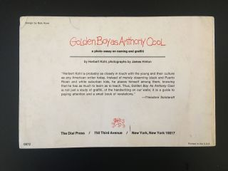 Golden Boy as Anthony Cool