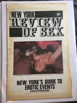 The New York Review of Sex, Vol. 1 No. 4, May 1, 1969. S. Edwards, ed Steven Heller