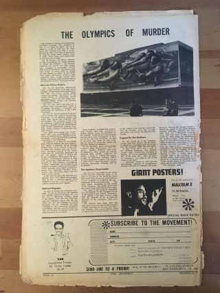 The Movement, vol. 4, no. 10, November 1968