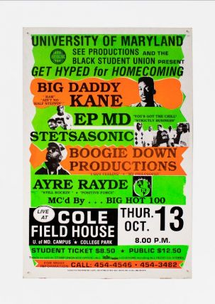 Big Daddy Kane, EPMD, Stetsasonic, Boogie Down Productions at University of Maryland. EPMD Big...