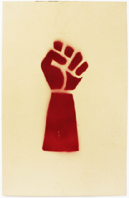 Raised Fist [Red]. Unknown artist