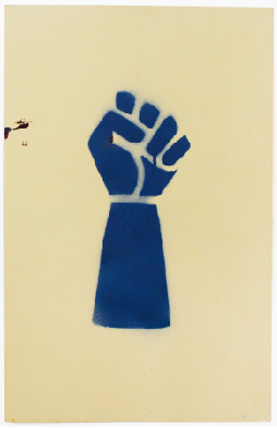 Raised Fist [Blue]. Unknown artist