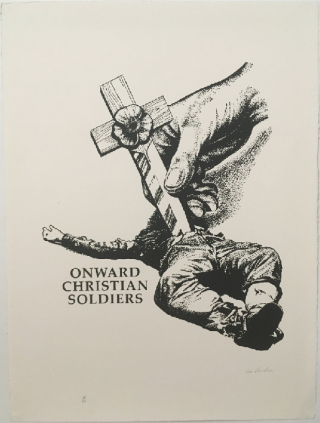 Signed and stamped] Onward Christian Soldier. Gee Vaucher