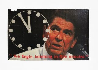 We Begin Bombing in Five Minutes. Artist Poster Committee of Art Workers Coalition, Coosje van...