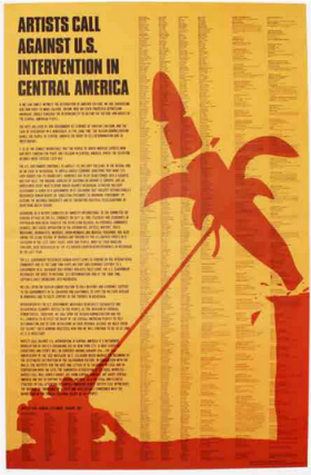 Artists Call Against U.S. Intervention in Central America. Claes Oldenburg
