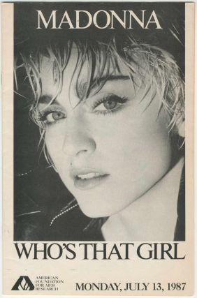 Madonna: Who's That Girl? [AIDS education]. Malcolm Ater
