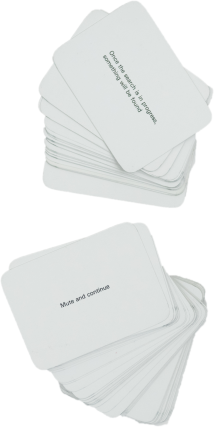 [Brian Eno / Peter Schmidt] Oblique Strategies: Over one hundred worthwhile dilemmas