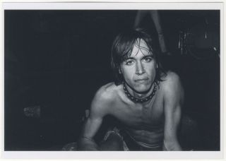 Signed by Leee Black Childers] Photograph of Iggy Pop. Leee Black Childers