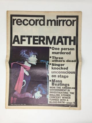Altamont Aftermath] Record Mirror, January 24, 1970