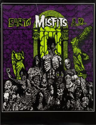 The Misfits Earth A.D. Poster. Mad Marc Rude, Marc Hoffman