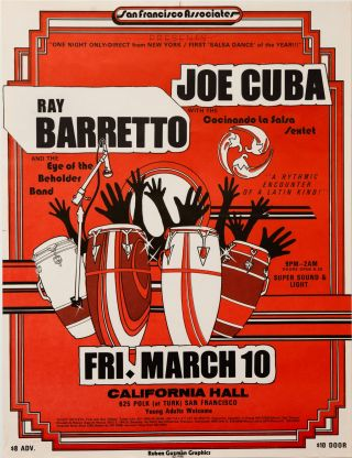 Ray Barretto & Joe Cuba at California Hall. Ray Barretto, Joe Cuba