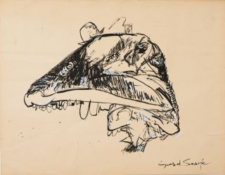 Study for Artwork from Pink Floyd's The Wall [Signed]. Gerald Scarfe
