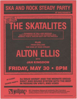 The Skatalites First Ever West Coast Experience at Wolfgang's