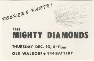 Rockers Party! The Mighty Diamonds at Old Waldorf