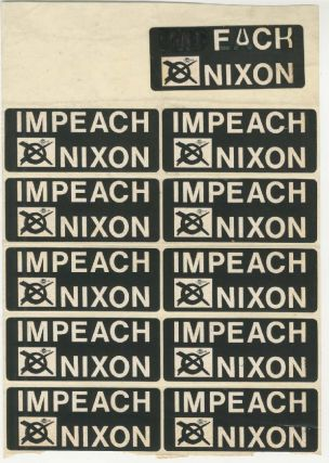 Impeach Nixon / Fuck Nixon [Sticker Set