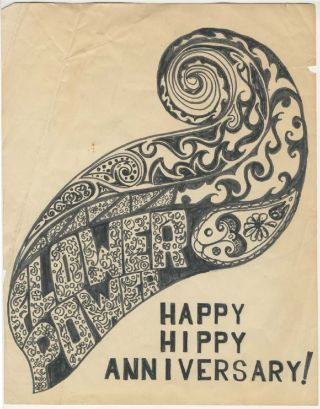 Happy Hippy Anniversary! Flower Power [Anonymous Original Art