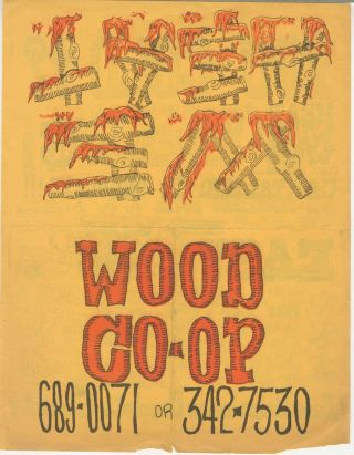 Wood Co-Op Flyer