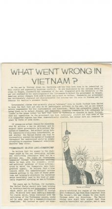 Student Peace Union: An Introduction [with] What Went Wrong in Vietnam?