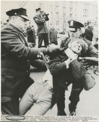 Press photo] Nixon inauguration protester assaulted by police
