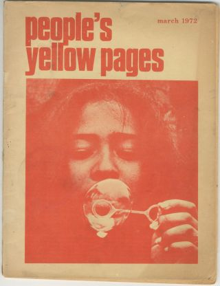 People's Yellow Pages, March 1972. Richard Gill, Jane Garmey
