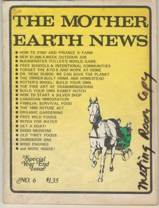 The Mother Earth News, no. 6, November 1970