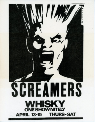 Screamers at the Whisky: One Show Nightly April 13-15. Gary Panter