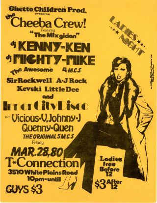 Ladies Night at T Connection: The Cheeba Crew with DJ Kenny Ken and DJ Mighty Mike, etc