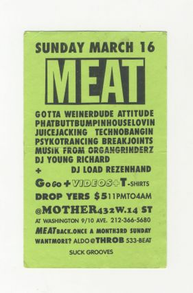MEAT Party Flyer