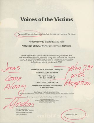 Voices of the Victims [Anti-Nuclear Activism]