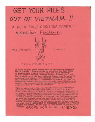 Operation Fuck-In. Ed Sanders.