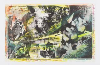 Handcolored Collage for Judith Malina. Carolee Schneeman