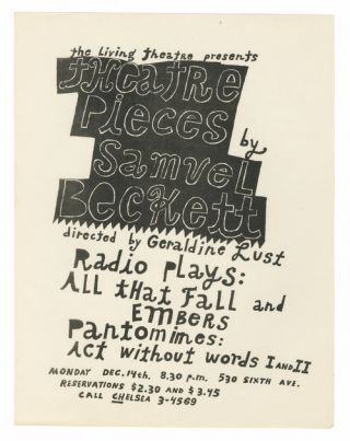 Theatre Pieces by Samuel Beckett. Ray Johnson.