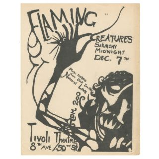Flaming Creatures at the Tivoli Theatre. Jack Smith.