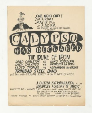 Calypso War Declared at the Brooklyn Academy of Music
