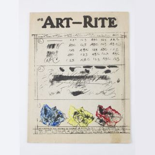 Art-Rite, issue 8, Winter 1975. Edit deAk, eds Walter Robinson.