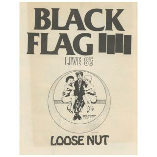 SST Catalog, Black Flag – Live 85 – Loose Nut. Raymond Pettibon, SST Records