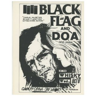 Black Flag and D.O.A. Raymond Pettibon.